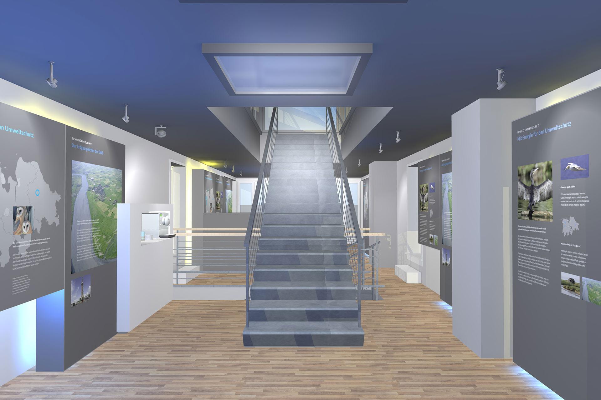 Ausstellungskonzept Lichtdesign