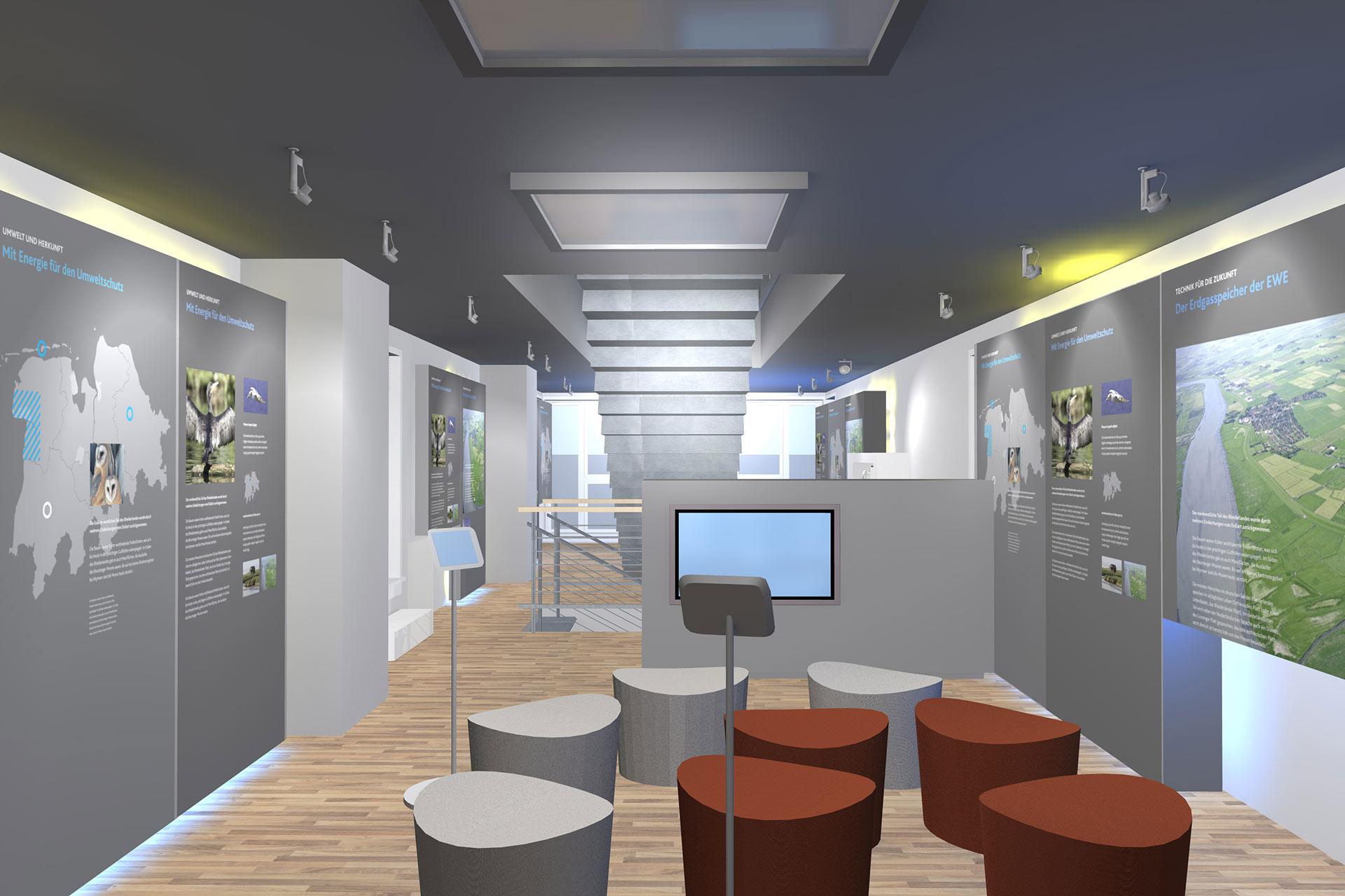 Rauminszenierung Showroom