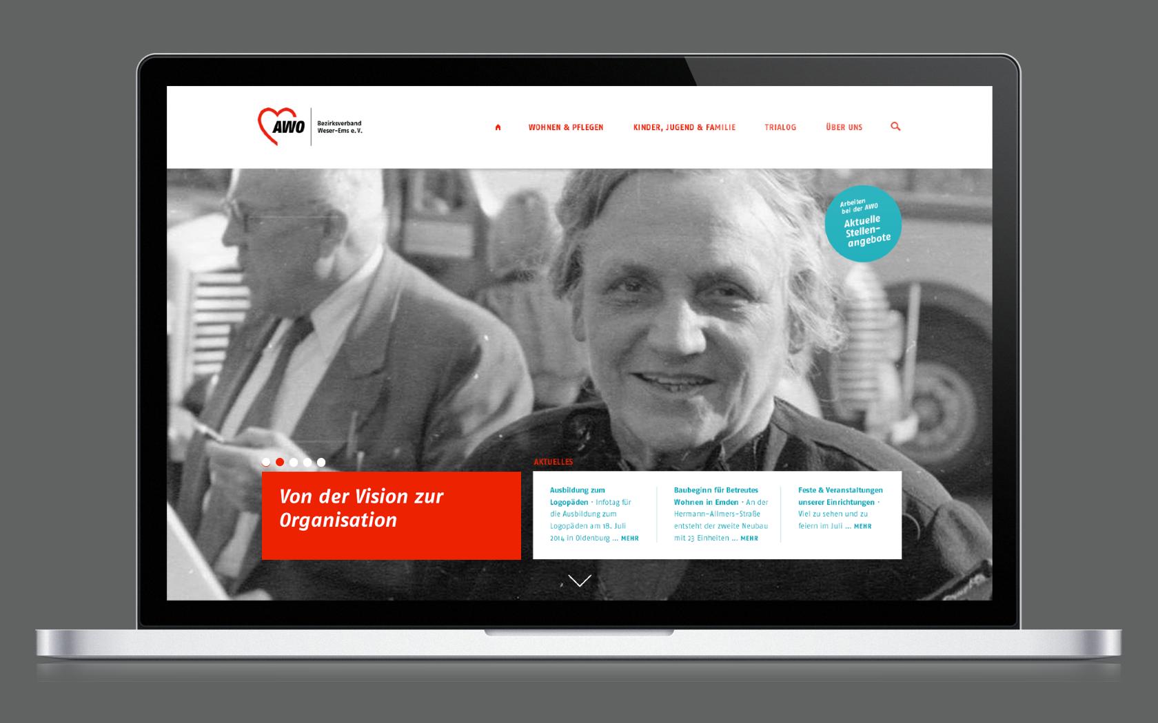 Rebranding der AWO Weser-Ems im Bereich des Internetportals
