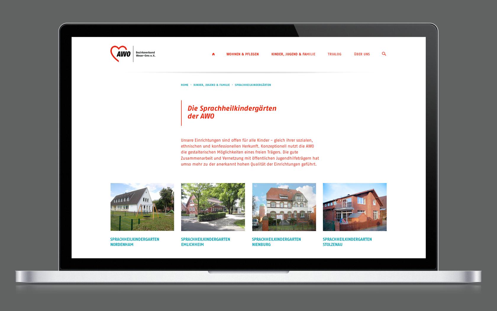 Responsives Webdesign für die AWO Weser-Ems