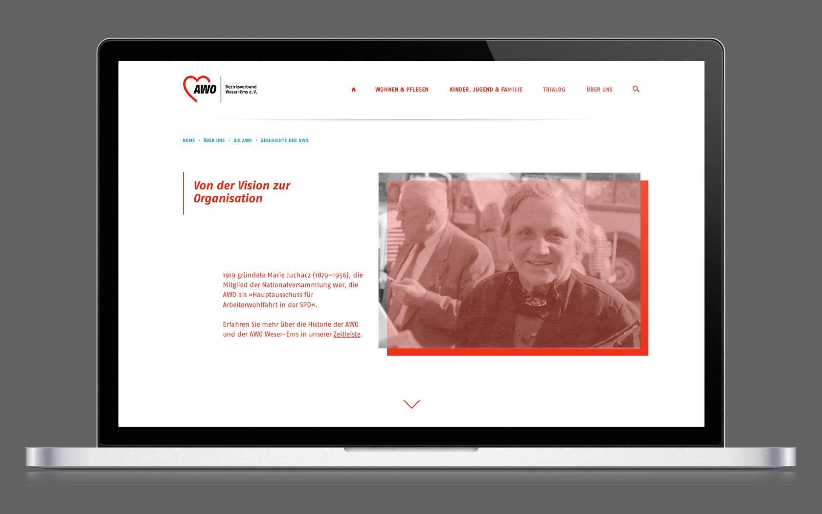 Als Webdesignagentur Oldenburg launchten wir das Webportal der AWO Weser-Ems