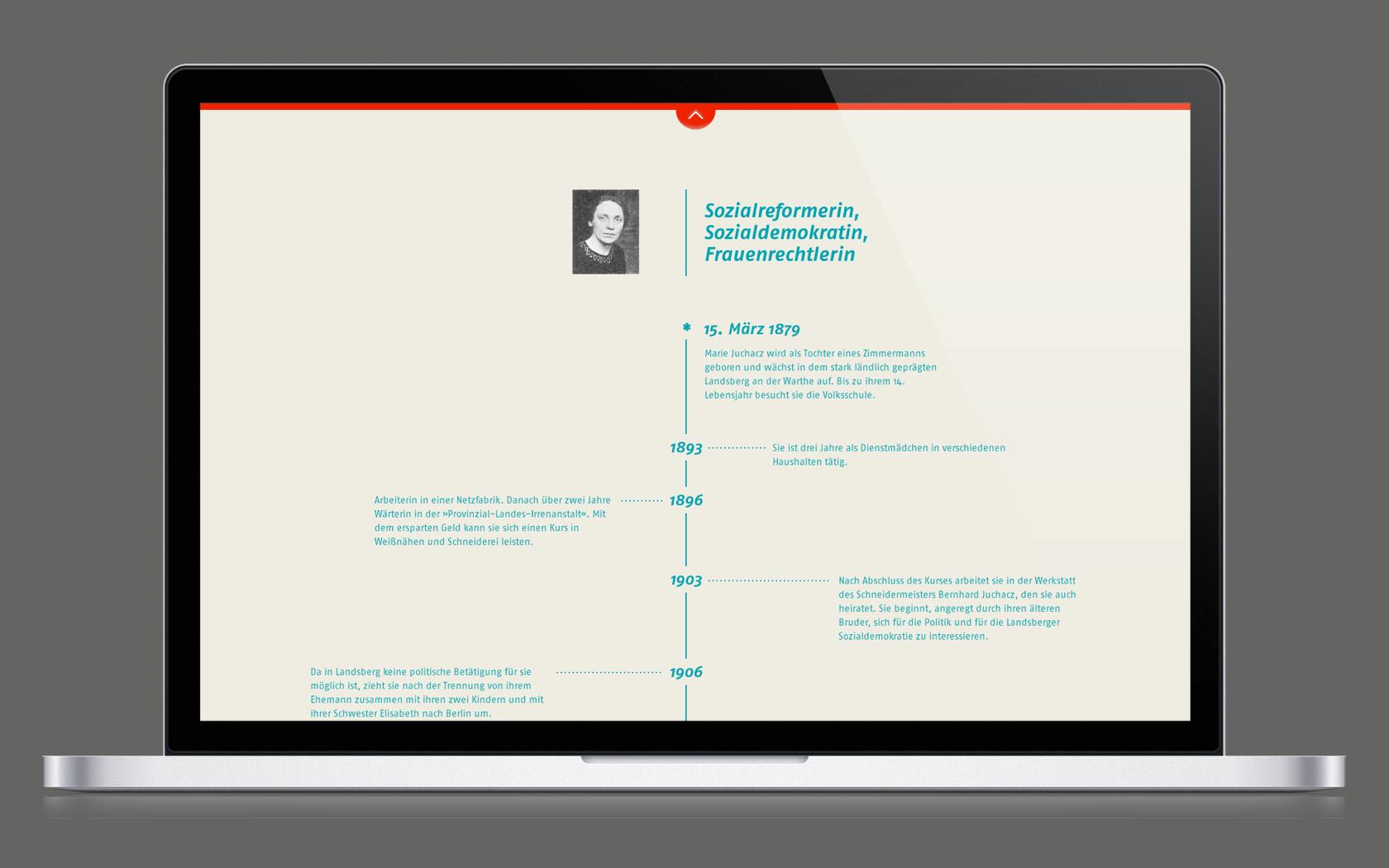 Content Marketing Beispiel Unternehmenshistorie der AWO