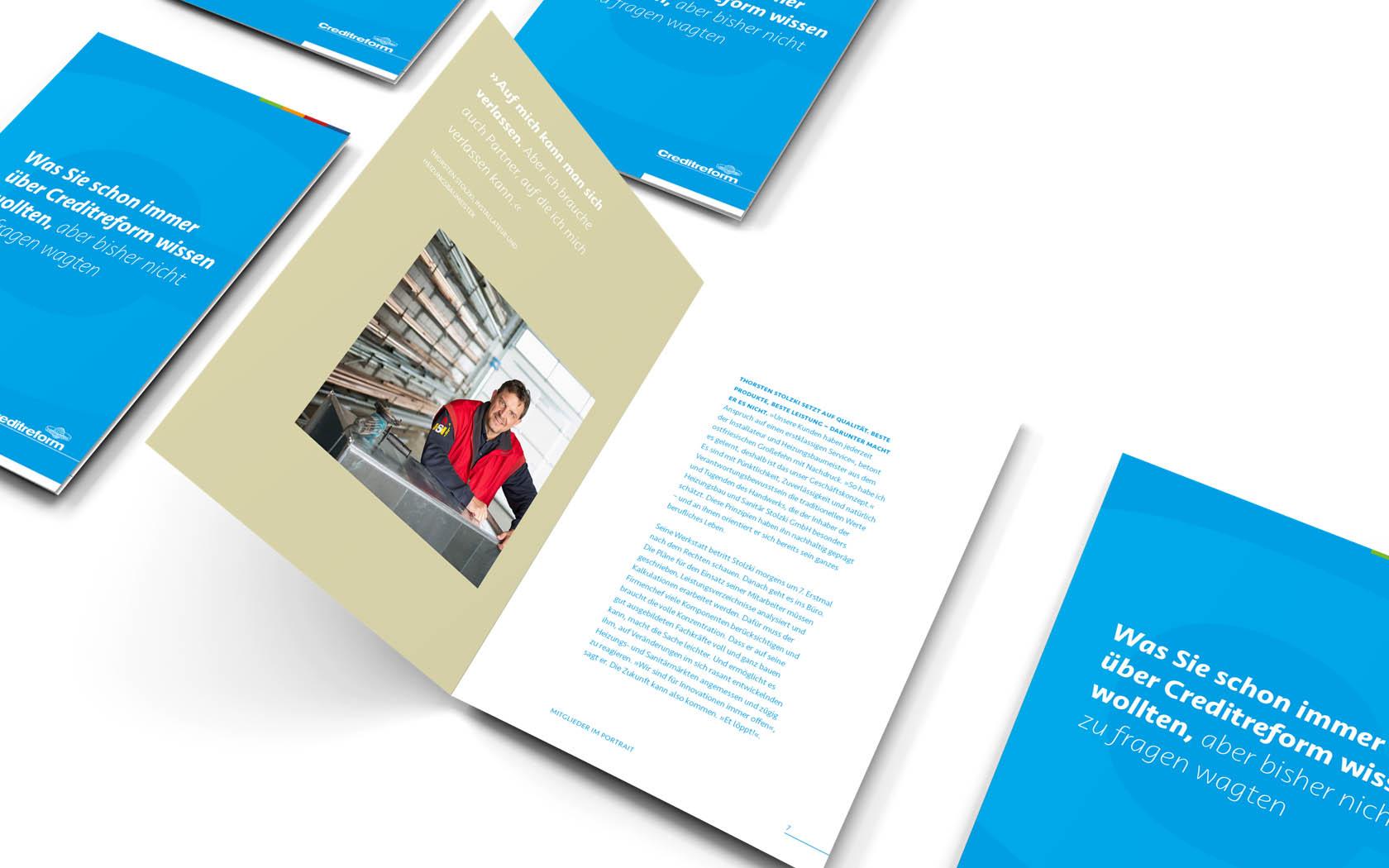 Imagebroschüre im Rahmen des Corporate Designs