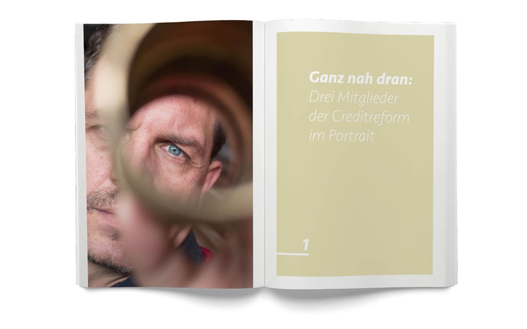 Gute Fotos ergänzen grafische Elemente im Corporate Design