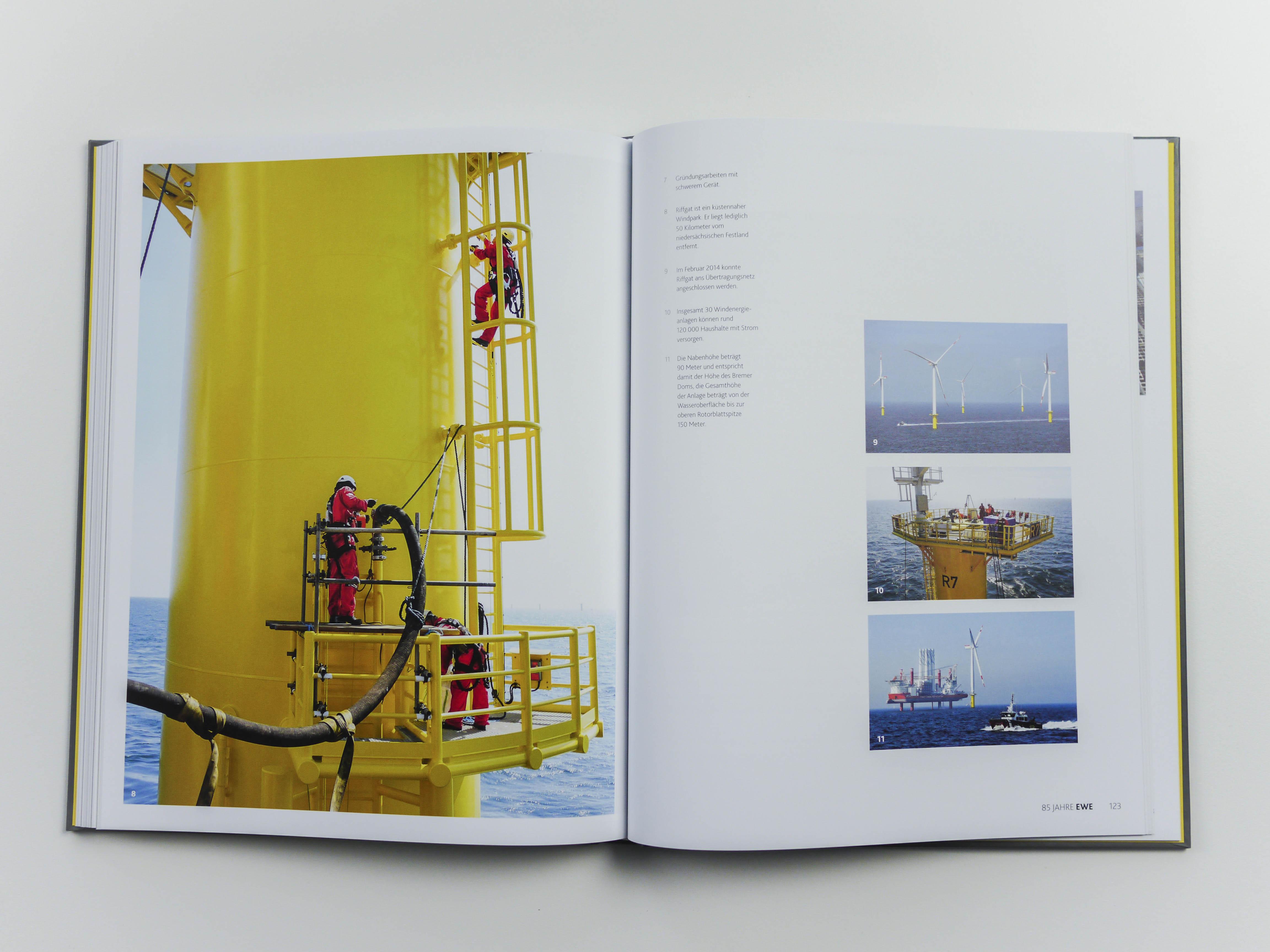Buchgestaltung und Corporate Publishing für den Energieversorger EWE