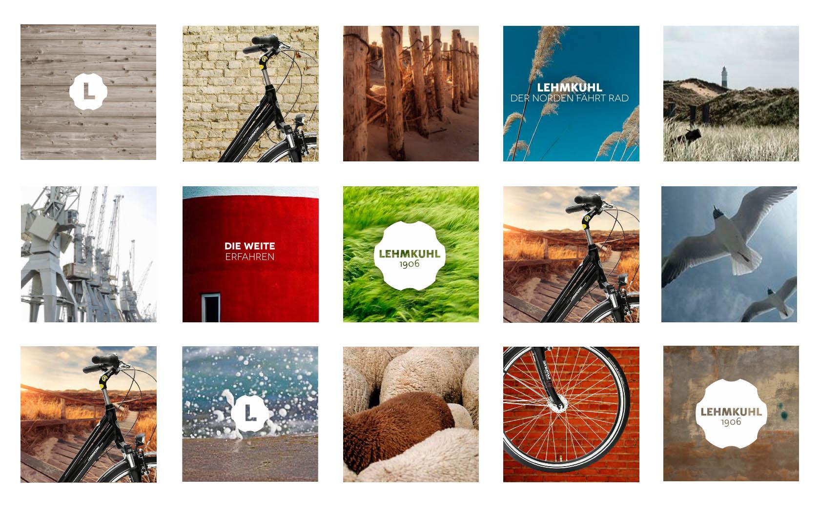 Key Visuals aus dem Corporate Branding für den Fahrradhersteller Lehmkuhl