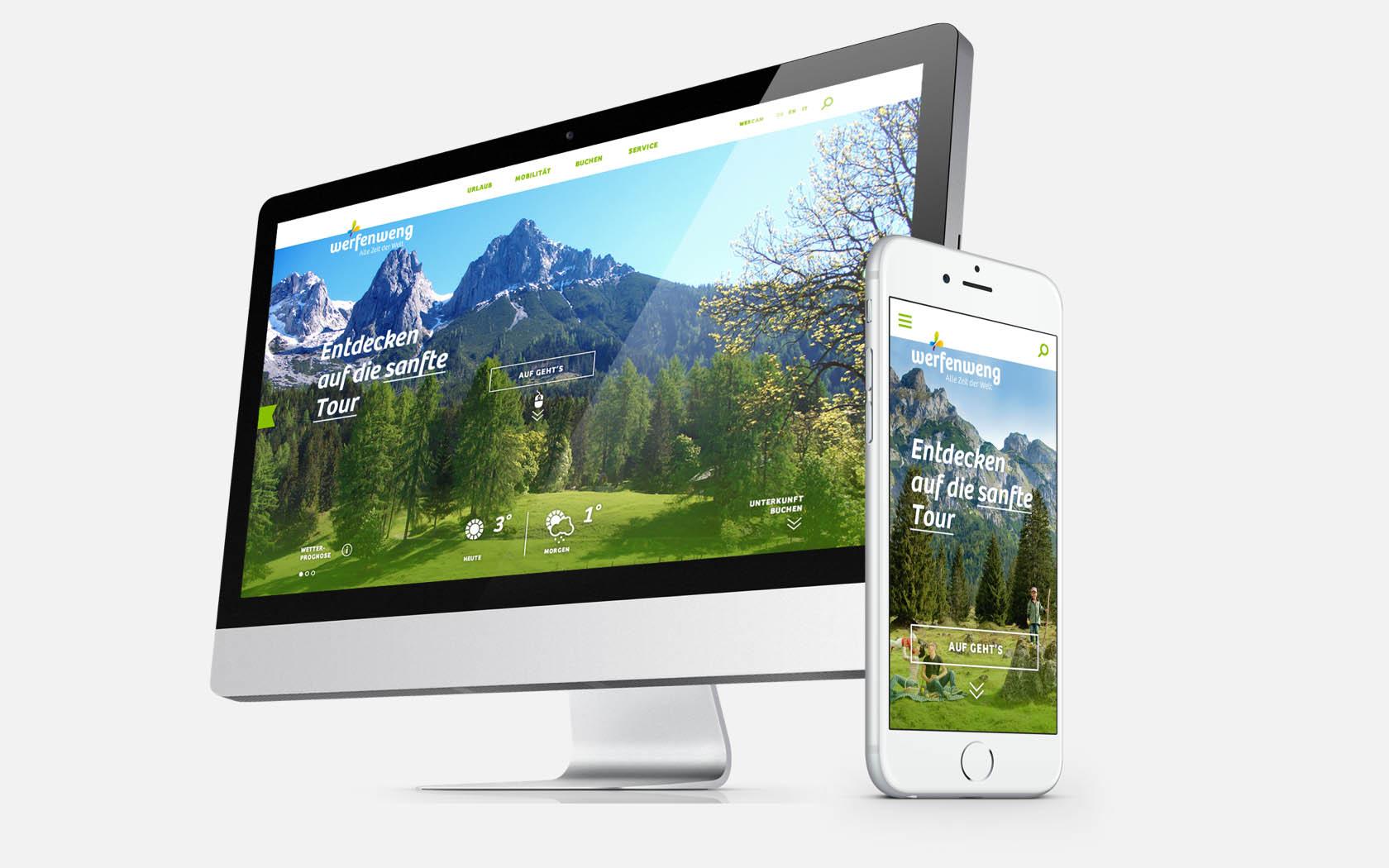 Digital Branding im Redesign des neuen Corporate Designs von Werfenweng