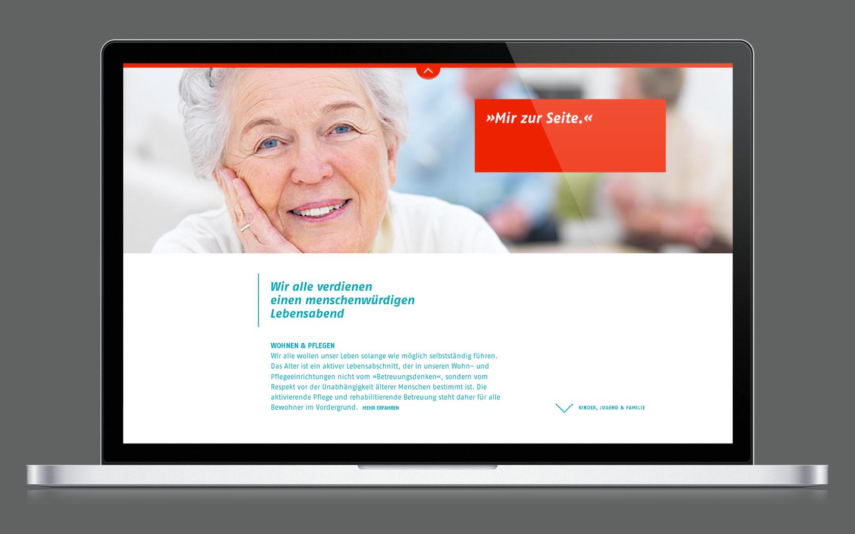 Webdesign mit Rebranding für das Webportal der AWO Weser-Ems