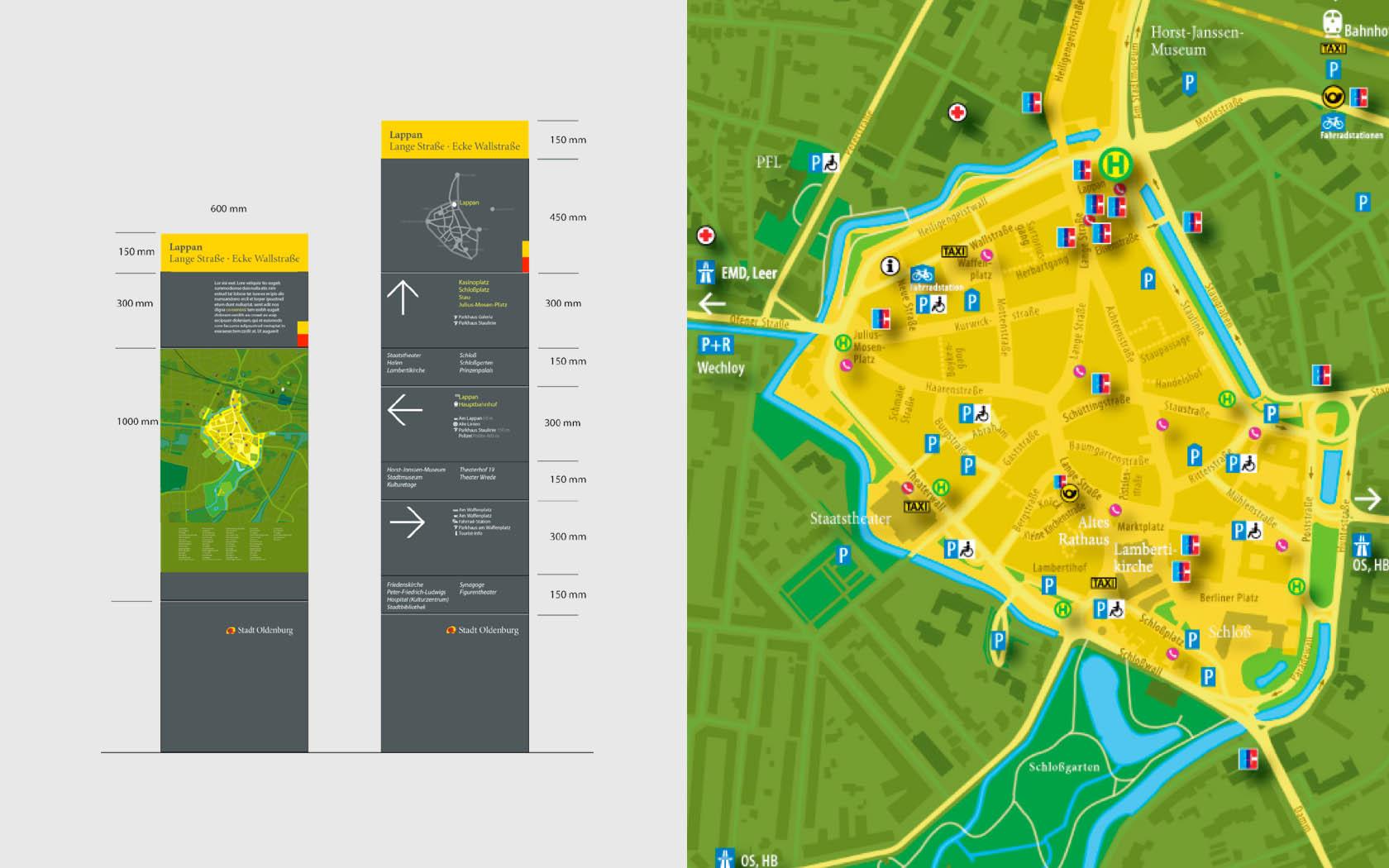 Fussgangerzone Oldenburg Karte.Oldenburg Leit Und Orientierungssystem Stockwerk2