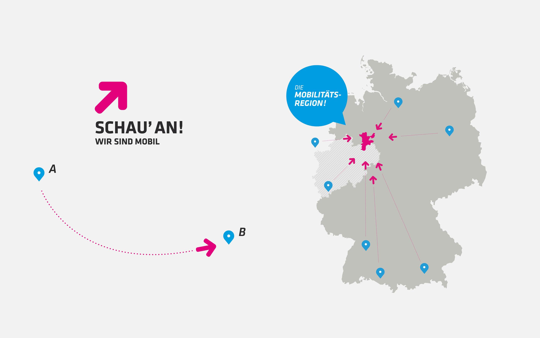 Karten-Design im Zuge des Corporate Identity Prozesses der Mobilitätsregion Minden-Lübbecke
